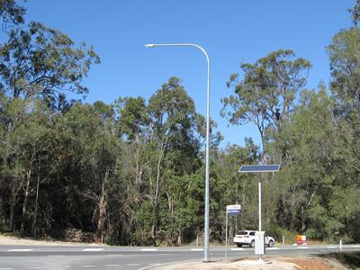 Solar flag lighting