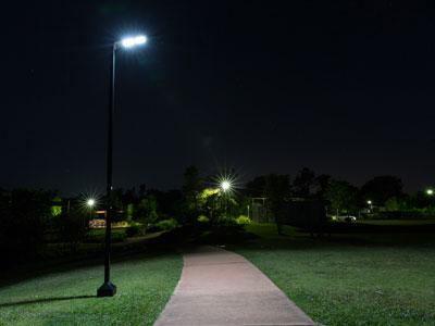 Solar park lighting