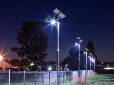 Solar perimeter lighting