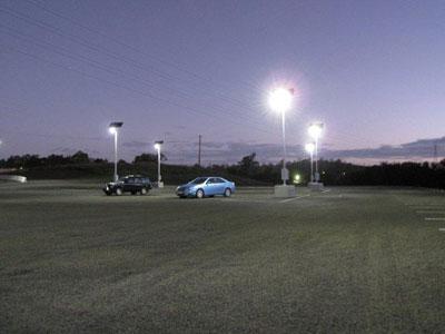 Temporary solar lighting