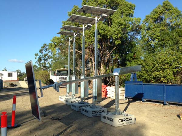 Solar light poles and footings