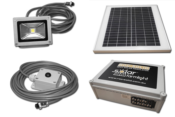 Solar farm lighting