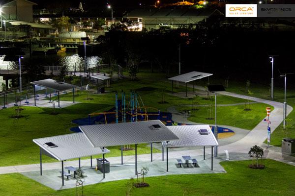 Solar Park Lighting at night