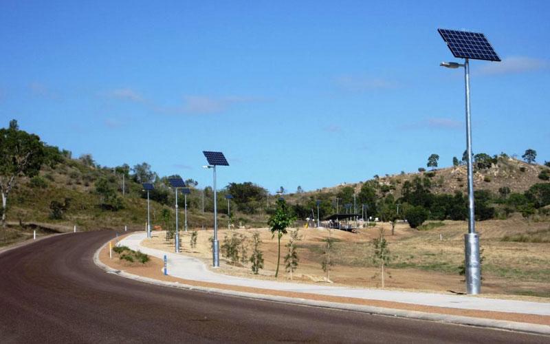 Solar lights for pathways