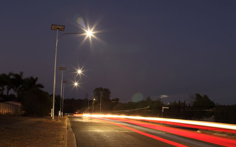 Solar lights for roads