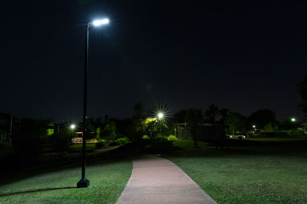 Integrated commercial solar lights
