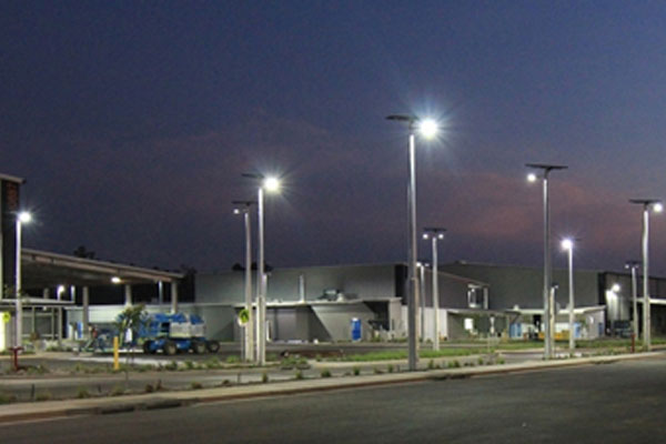 Solar powered commercial lights