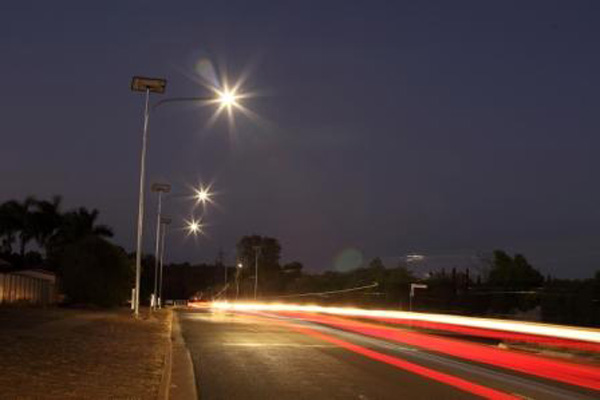 Rifle Range Road solar lighting