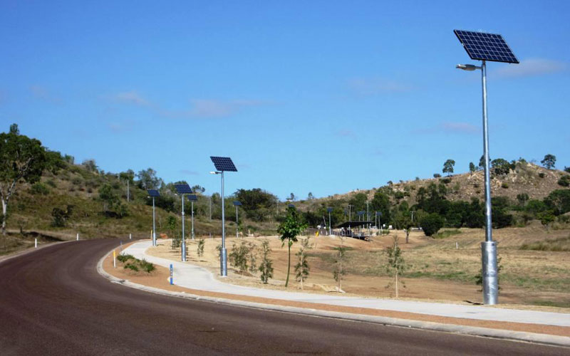 Solar lights for pathways