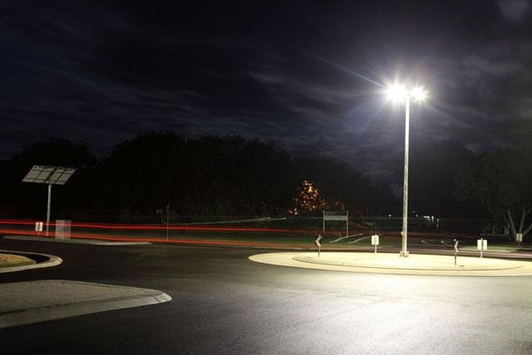 Solar bike way lighting