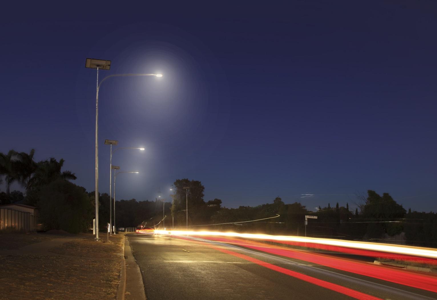 Solar street light for a Queensland Council.