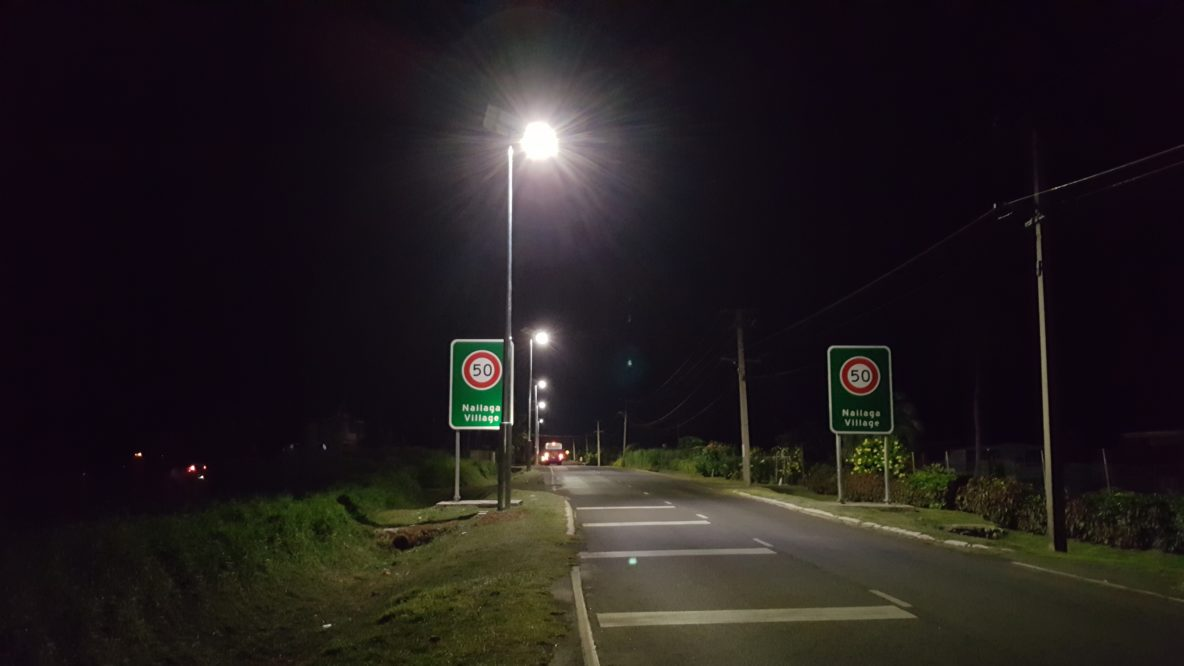 Fiji highway solar road lighting by Orca Solar Lighting