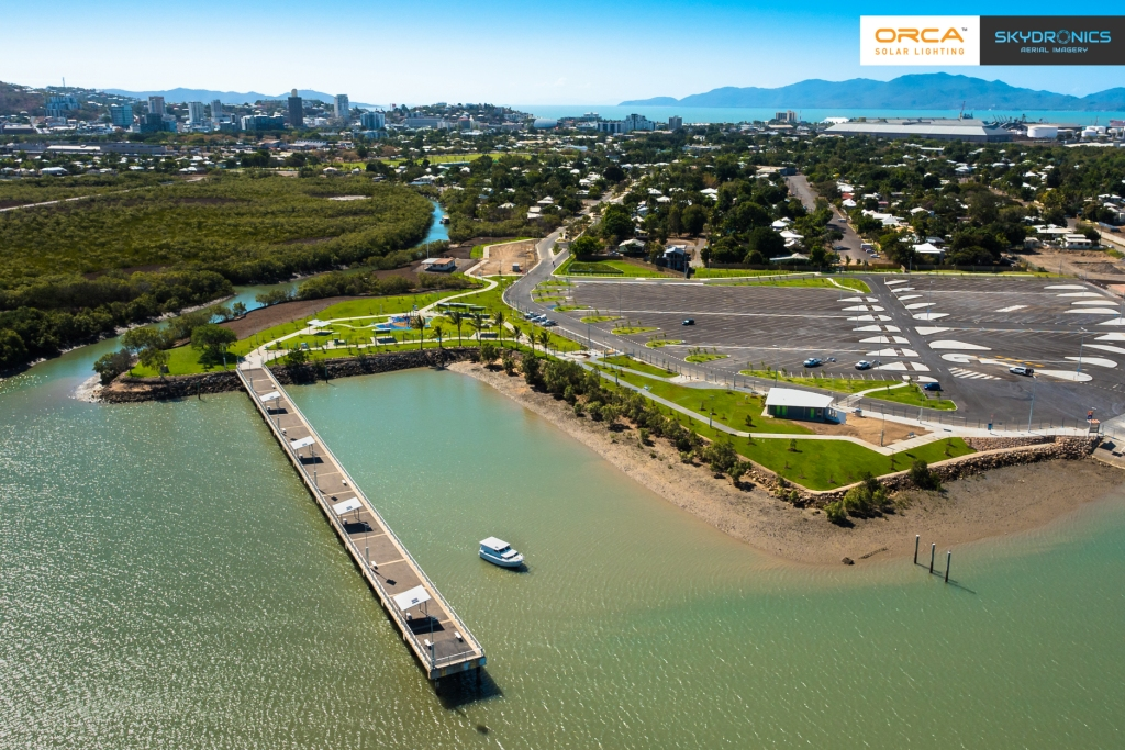 Townsville Recreational Boating Precinct lit with Vertex solar lights