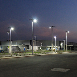 Vertex solar street lights for Department of Defence