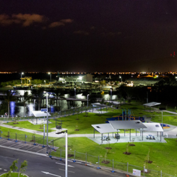 Townsville Rec Boating Park lit with solar street lighting