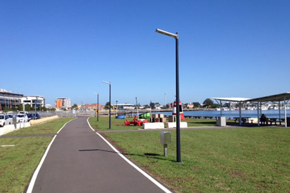 Solar path lights and Safety Bollard Lights by Orca Solar Lighting