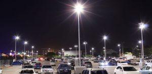 solar lighting installation