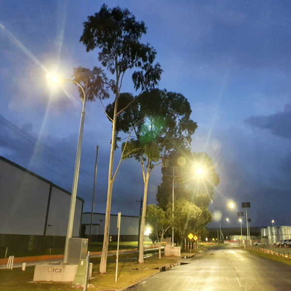 Vertex temporary solar road lights by Orca Solar Lighting