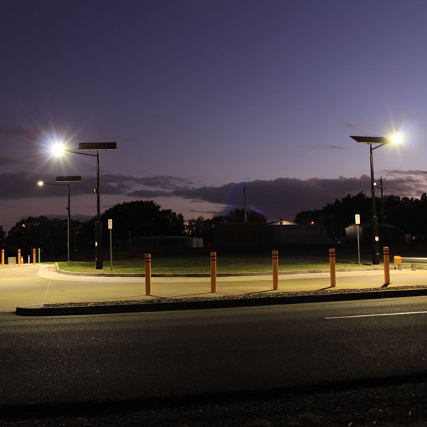 Vertex solar area lighting by Orca Solar Lighting