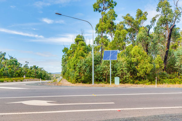 Vertex® solar street lights were installed on this busy part of the Northern NSW Coffs Harbour to Ballina upgrade