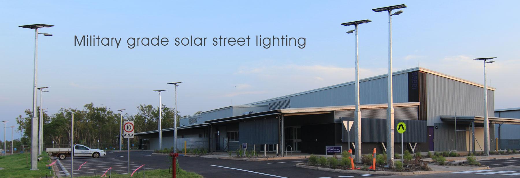 Military grade solar street lighting