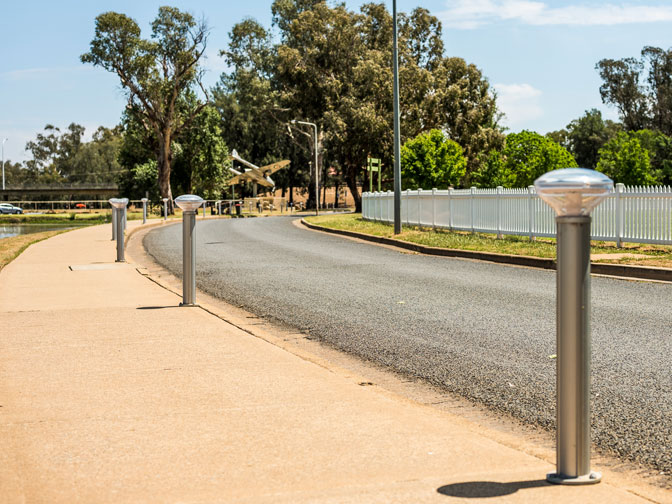 Solar Path Lighting and safety bollard lights