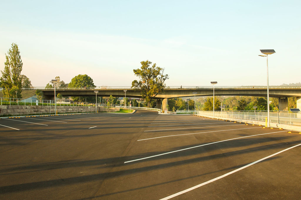 Solar lighting Tench Reserve car park and boat ramp