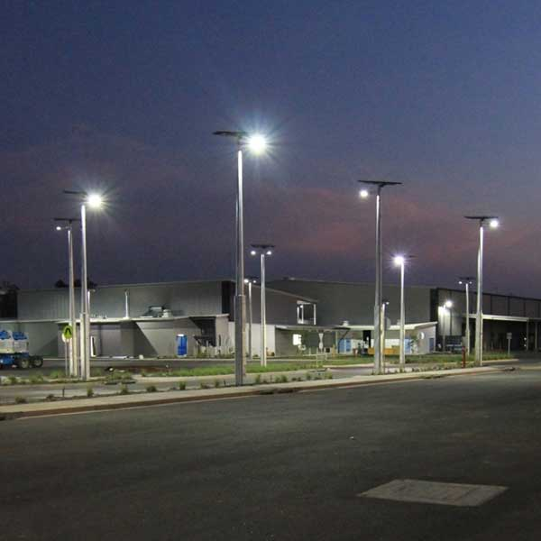 The largest solar lighting installation in Australia, Vertex® solar lighting was a prominent component of the 2014 major upgrade of the Robertson Barracks in the NT.