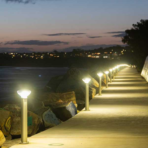Nambucca Shire Council has lit their famous V Wall pathway to encourage evening and early morning patronage along the Nambucca River to where it meets the ocean.